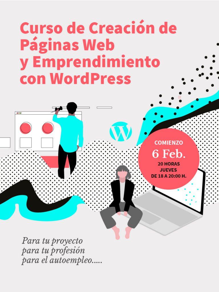 Curso de Creación de Páginas Web y Emprendimiento con WordPress en Usera