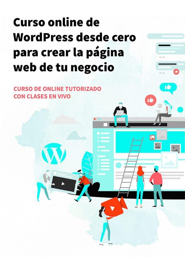 Cursos online de WordPress para crear la web de tu negocio o proyecto